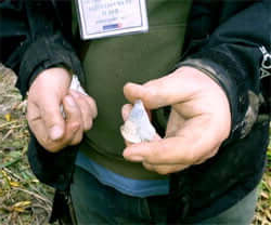 A flint tool from Blick Mead
