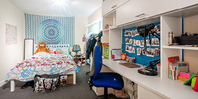 student accommodation room interior caine house